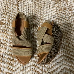 Lucky brand animal print rope wedges size 5 1/2
